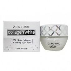 Осветляющий крем для глаз с коллагеном 3W Clinic Collagen Eye Cream