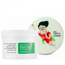 Успокаивающие пэды Cosrx One Step Green Hero Calming Pad