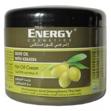Маска бальзам для волос с оливой Energy Cosmetics Hot Oil Cream Olive Oil