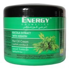 Маска бальзам для увлажнения и укрепления волос Energy Cosmetics Hot Oil Cream Rucola Extract with Keratin
