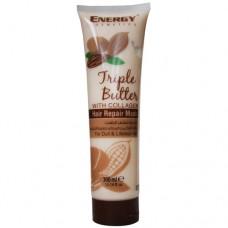 Маска для безжизненных волос Energy Cosmetics Triple Butter With Collagen