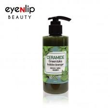 Пузырьковая детокс-пенка с керамидами и экстрактом трав Eyenlip Beauty Ceramide Green Toks Bubble Cleanser