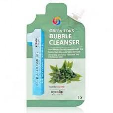 Пробник пузырьковая детокс-пенка с керамидами и экстрактом трав Eyenlip Beauty Ceramide Green Toks Bubble Cleanser Sample