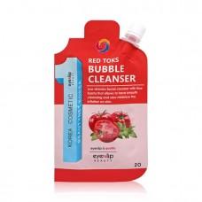Пробник пузырьковая детокс-пенка с керамидами Eyenlip Beauty Ceramide Red Toks Bubble Cleanser Sample