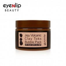 Пузырьковая маска с вулканической глиной Eyenlip Beauty Jeju Volcanic Clay Toks Bubble Pack