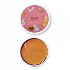 Гидрогелевые патчи с лососевым маслом и пептидами Eyenlip Beauty Salmon Oil & Peptide Hydrogel Eye Patch