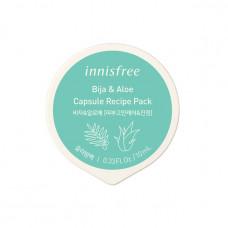Ночная маска для проблемной кожи с маслом торреи и алоэ вера Innisfree Capsule Recipe Pack Bija & Aloe