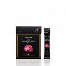 Обновляющая ночная маска с муцином улитки и витамином В12 JMsolution Active Pink Snail Sleeping Cream