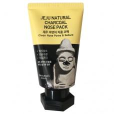 Пленочная маска с углем Kwailnara Jeju Natural Charcoal Nose Pack