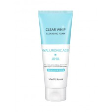 Пенка с гиалуроновой кислотой и AHA кислотами Medi Flower Clear Whip Cleansing Foam Hyaluronic Acid Aha