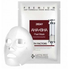 Тканевая маска с AHA+BHA кислотами Medi-Peel 28 Day AHA+BHA Peel Mask
