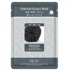 Тканевая маска с древесным углем Mijin Cosmetics Charcoal Essence Mask