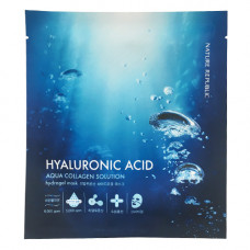 Гидрогелевая маска для лица с гиалуроновой кислотой Nature Republic Hyaluronic Acid Aqua Collagen Solution Hydrogel Mask